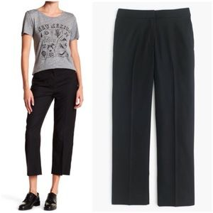 J. CREW Patio Pants Super 120s Wool Crop Wide Leg